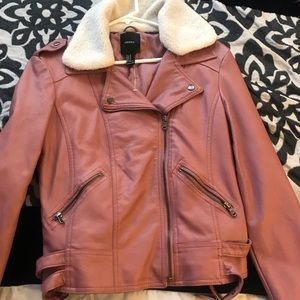 Pink leather jacket 💕